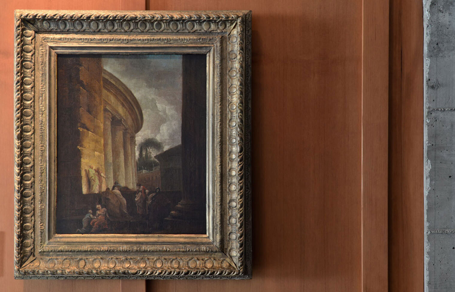 This 18th century capriccio by Hubert Robert hangs in Piraneseum's Painting Gallery.