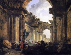 Figure 1. Hubert Robert Ruined Gallery Louvre 1796 (1)